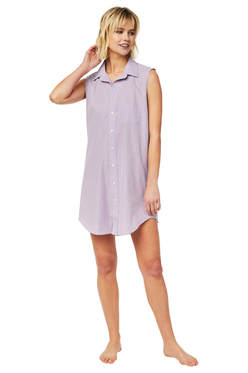 The-Cats-Pajamas-Lavender-Check-Luxe-Pima-Sleeveless-Night-Shirt