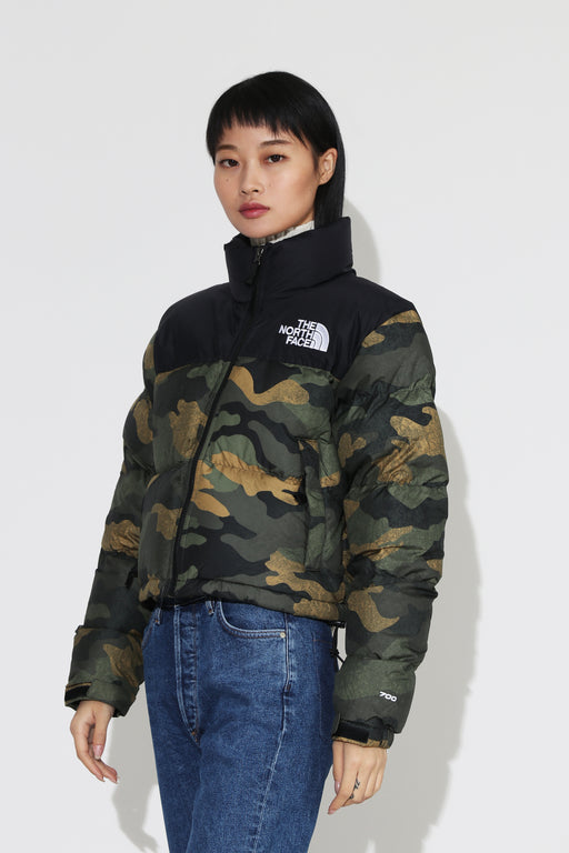 The North Face Nuptse Crop Jacket Camo
