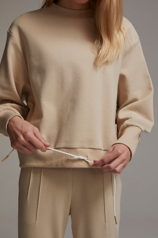 Varley-Edith-Ribbed-Pique-Sweat-Sand