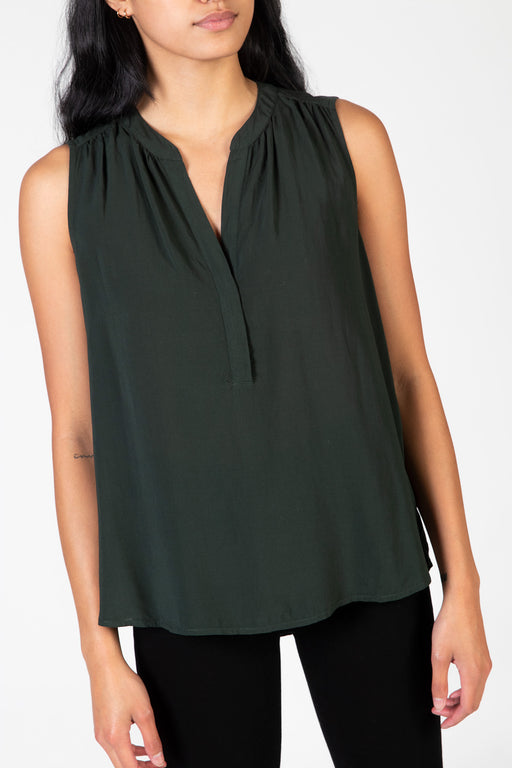 Velvet-Ravin-Sleeveless-Blouse-Army