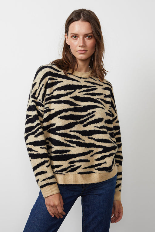 Velvet-by-Graham-Spencer-Amal-Printed-Sweater-Camel