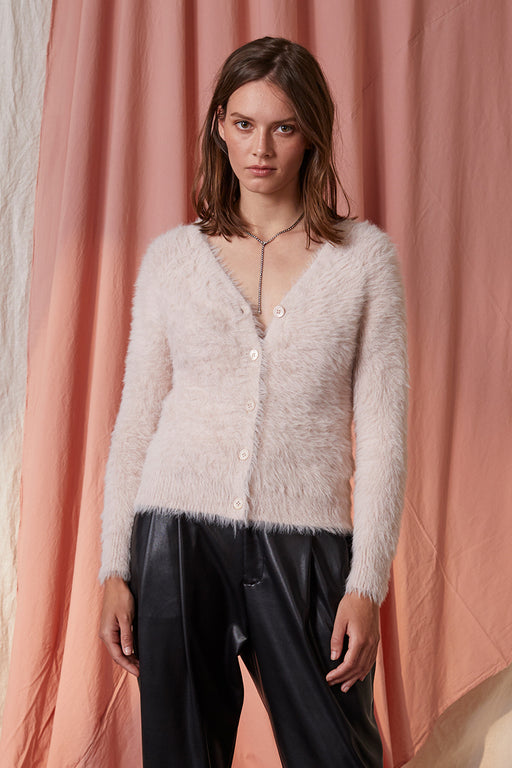 Velvet-by-Graham-Spencer-Elle-Feathered-Yarn-Cropped-Cardigan-Blush