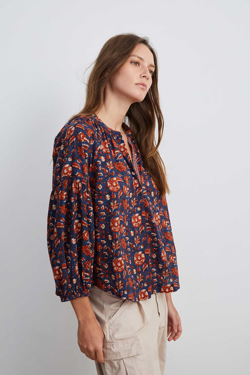 Velvet-by-Graham-Spencer-Noah-Blouse-Navy-Print