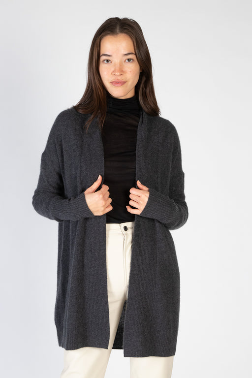 White-Warren-Cashmere-Ribbed-Placket-Open-Cardigan-Charcoal-Heather
