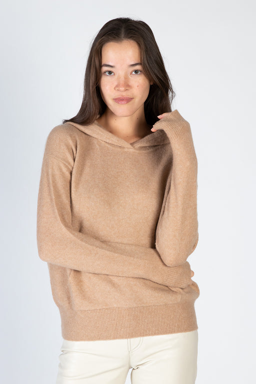 White-Warren-Cuddle-Cashmere-Blend-Hoodie-Caramel