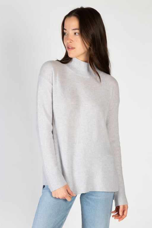 White-Warren-Cuddle-Cashmere-Blend-Standneck-Sweater-Grey-Heather