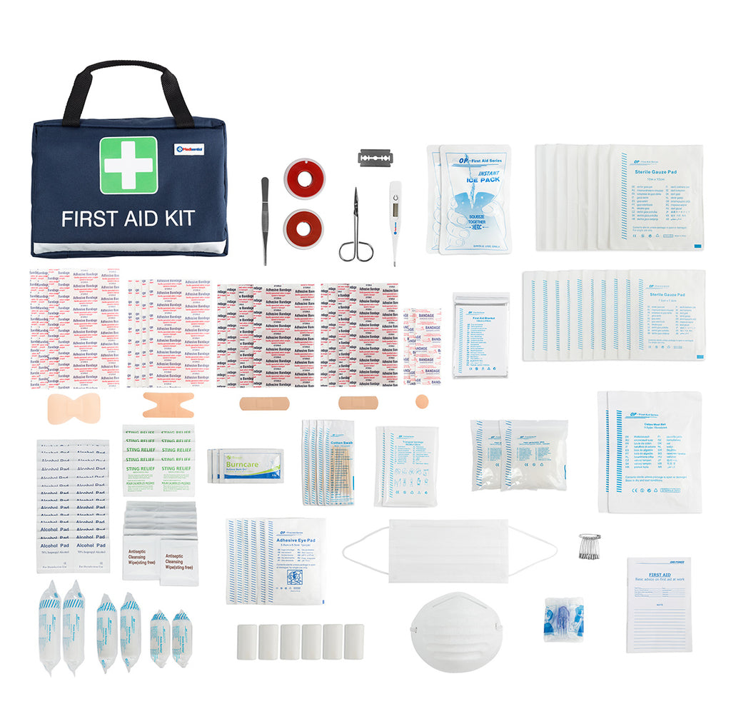 262 PC First Aid Medical Kit & Digital Thermometer