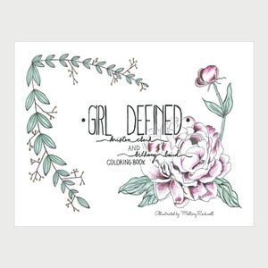 Girl Defined Coloring Book (PDF Download)