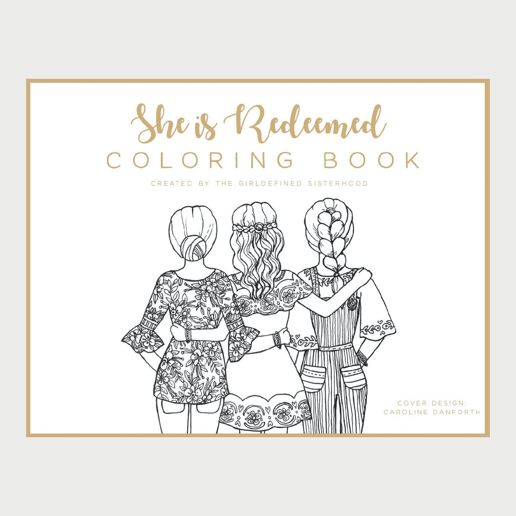 She Is Redeemed Coloring Book (PDF Download)