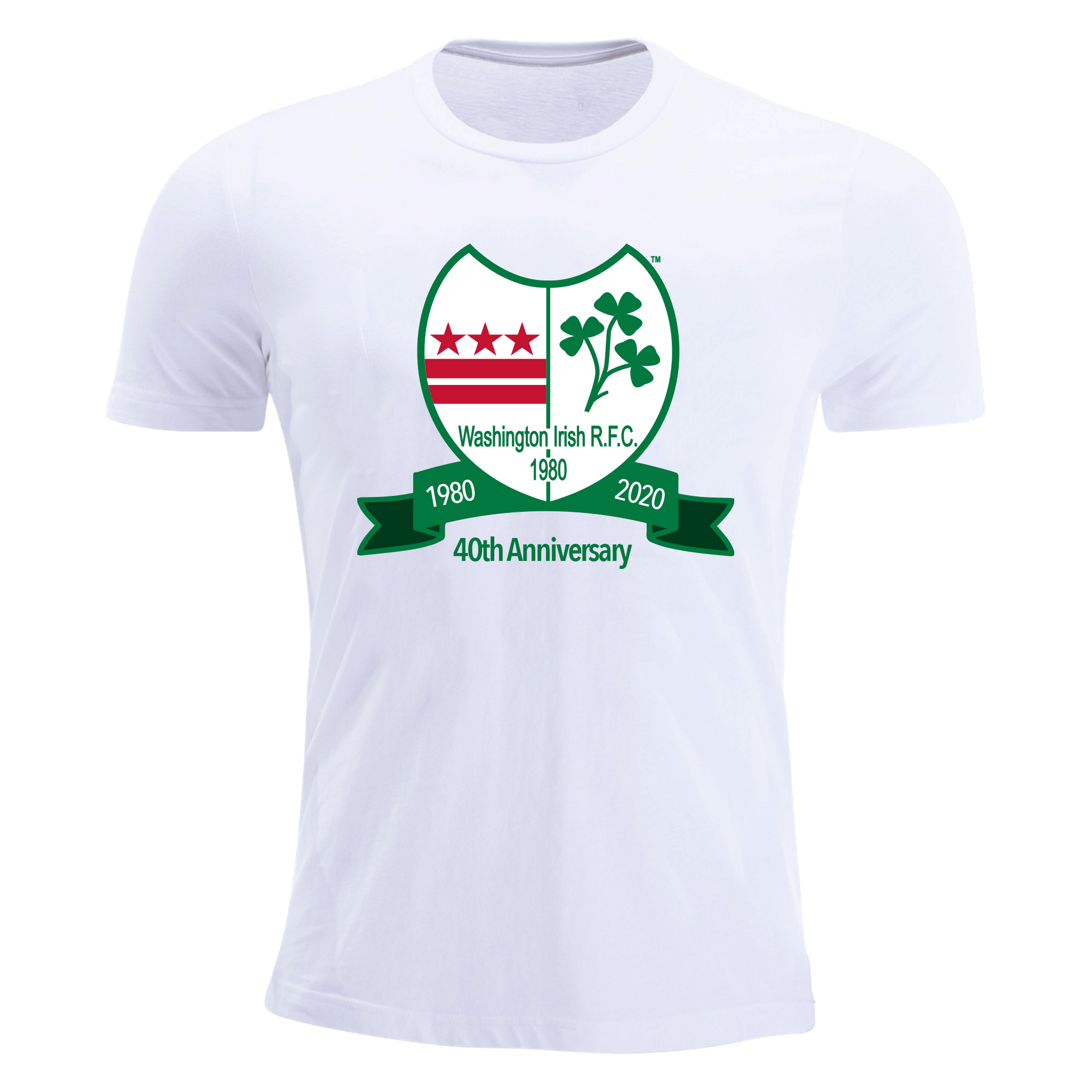 Washington Irish Rugby 40th Anniversary White Premiership T-Shirt