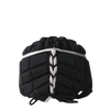 Rear View Black Rugby Scrum Cap With Matte Silver