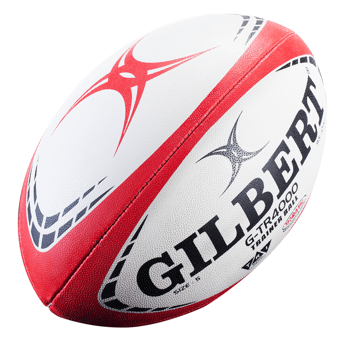 Pack of 5 Balls Size 4 Gilbert G-TR4000 Training Rugby Balls