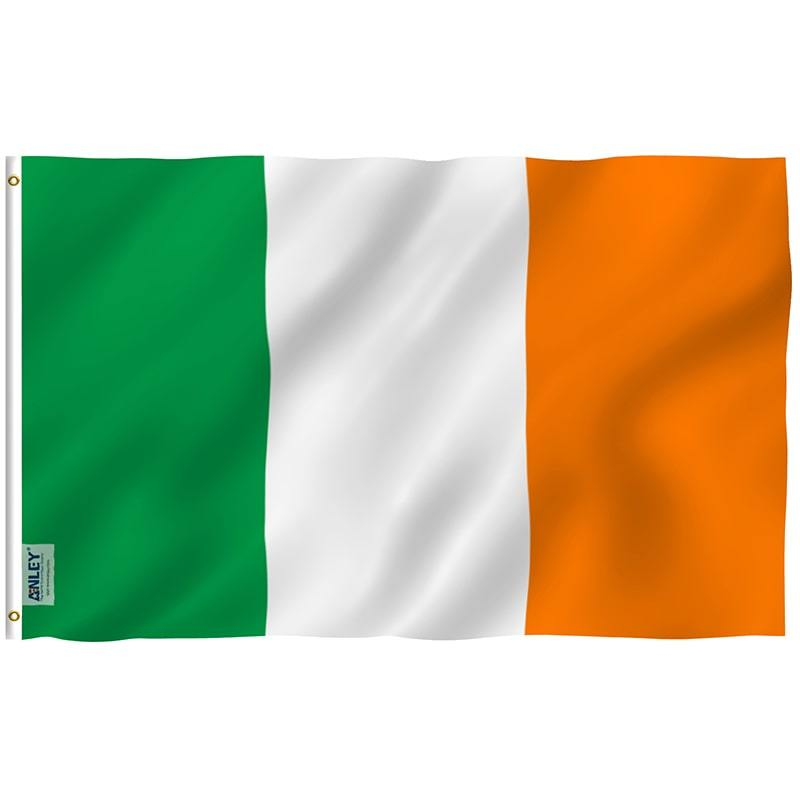 Ireland Rugby Fan Flag Green White Orange Complete View