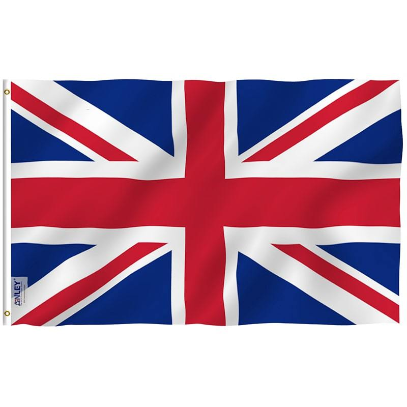 Union Jack Rugby Fan Flag Red White Blue