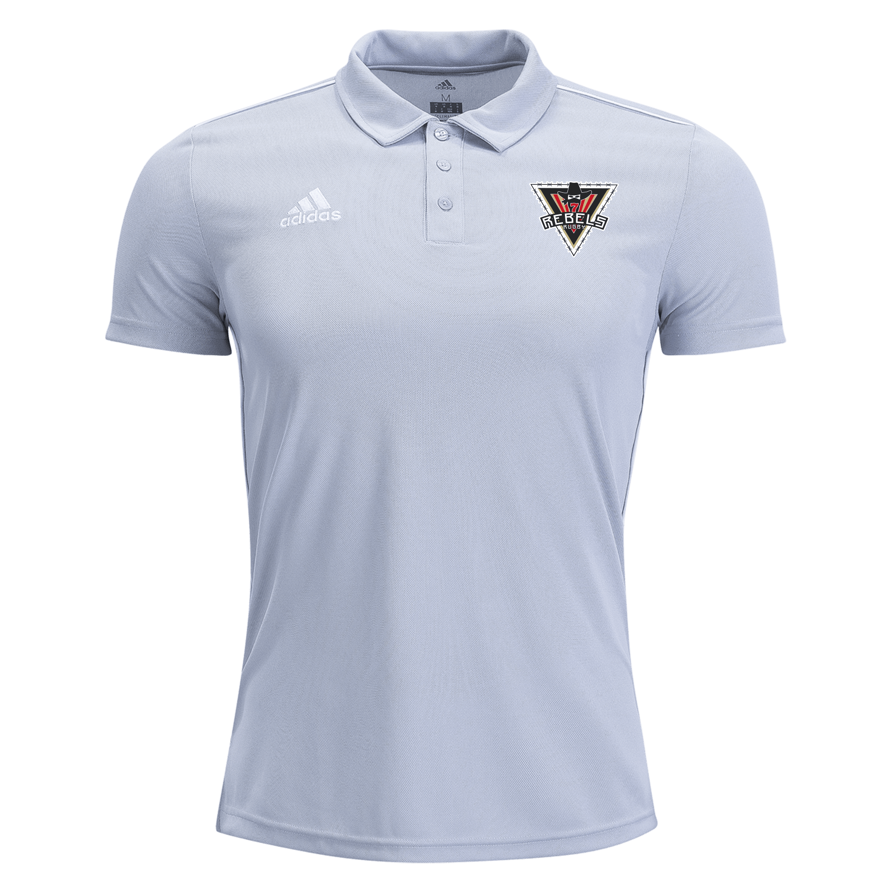Rebels Rugby Academy adidas Grey Core Polo