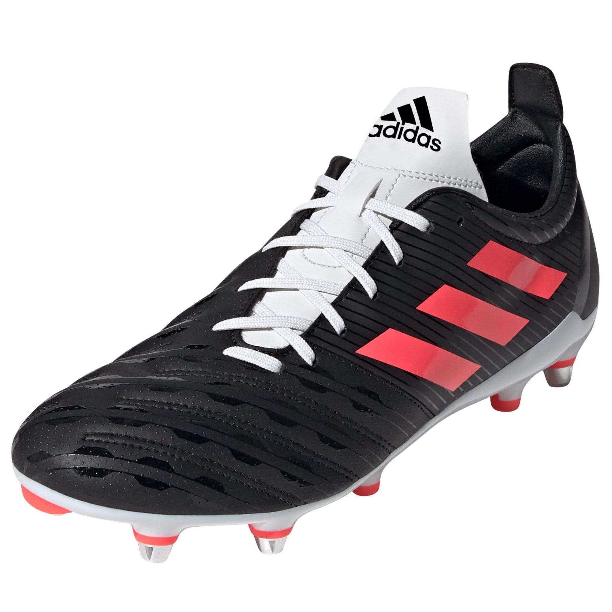 Black Adidas FW20 Malice SG Boots White Laces Pink Stripes