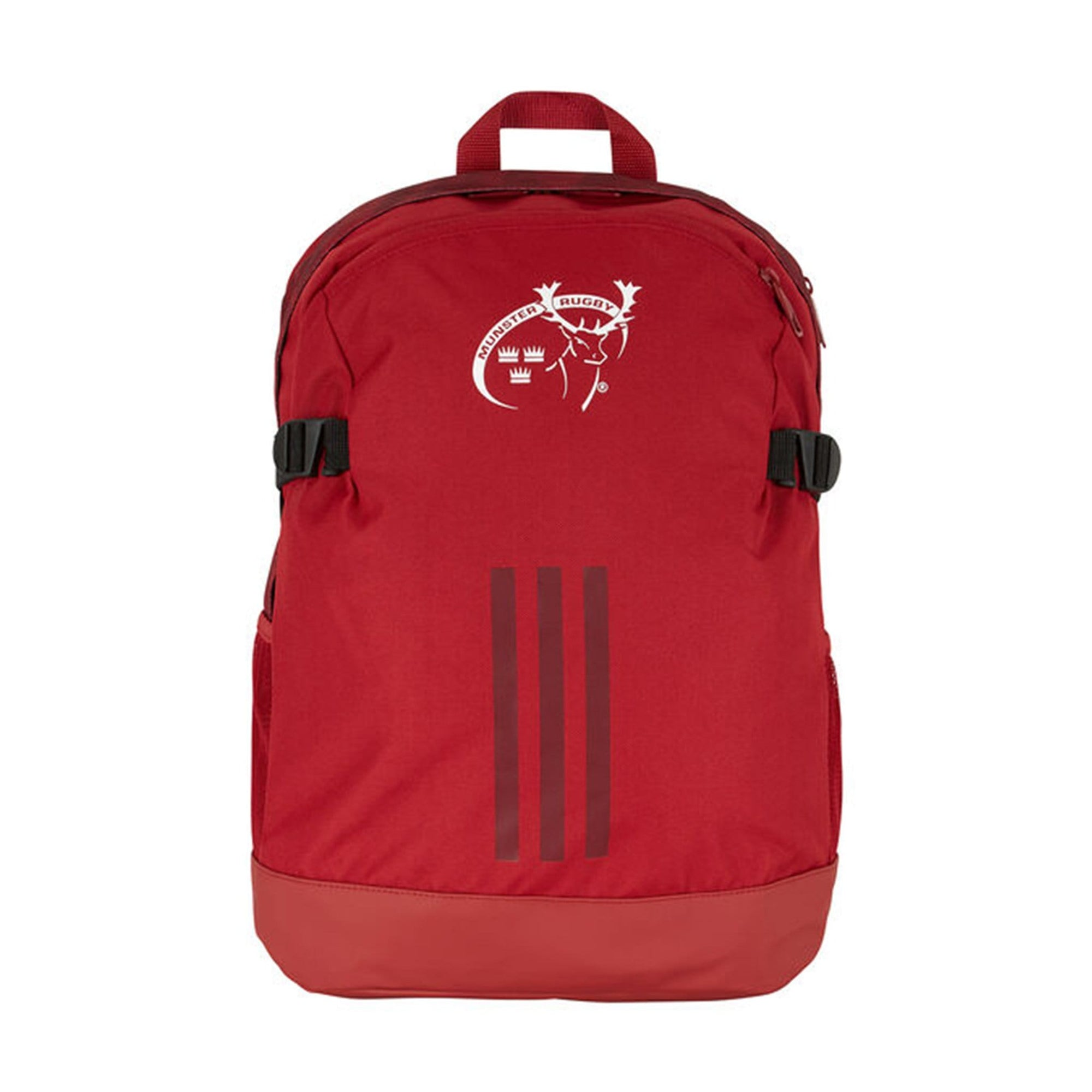 Front of Red Adidas Munster Supporters Rugby Backpack