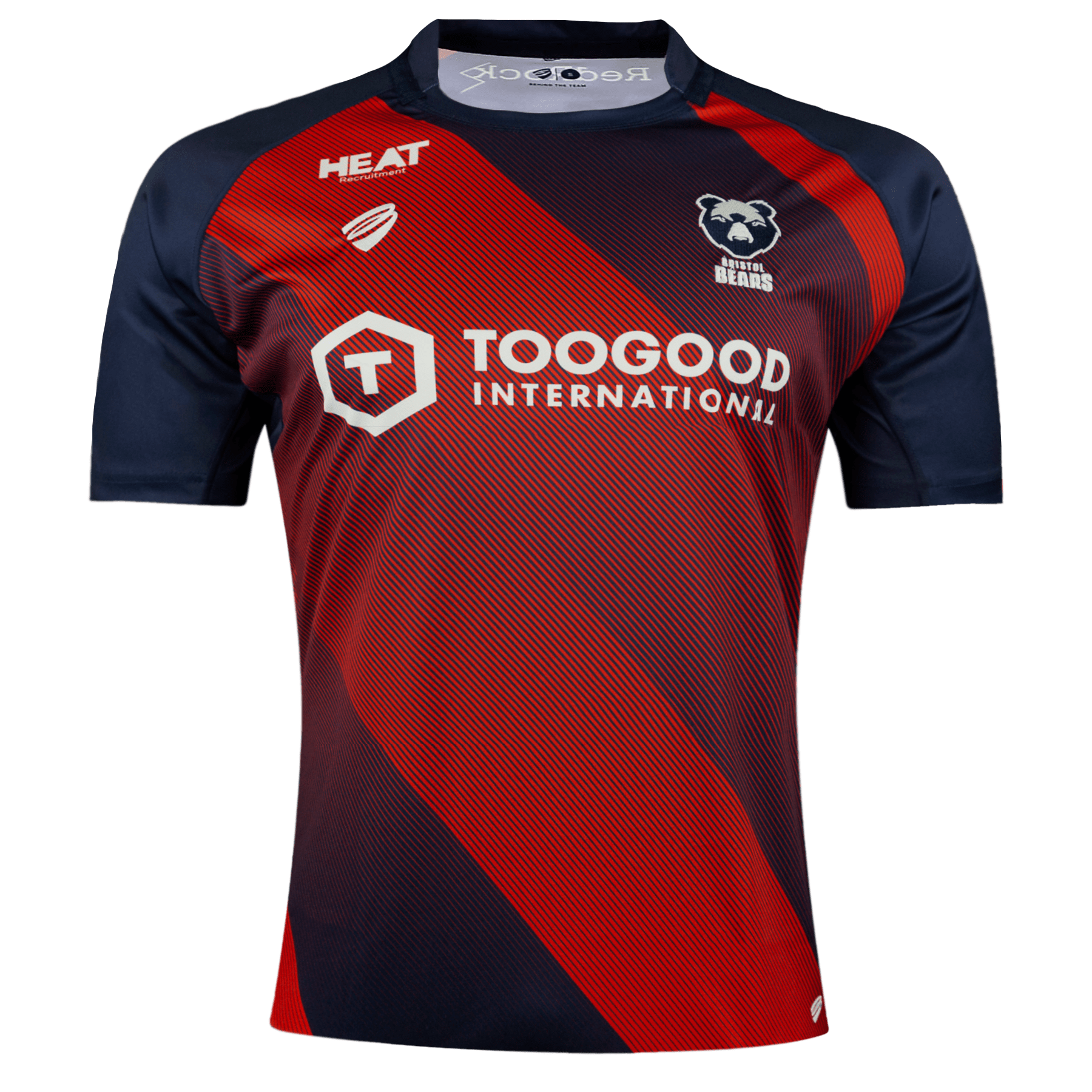 Bristol Bears Home Rugby Jersey Navy and Red