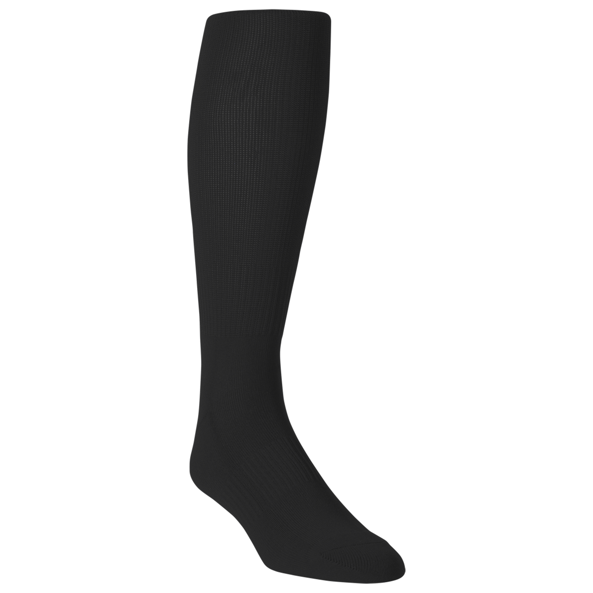 Elite Black Solid Rugby Socks