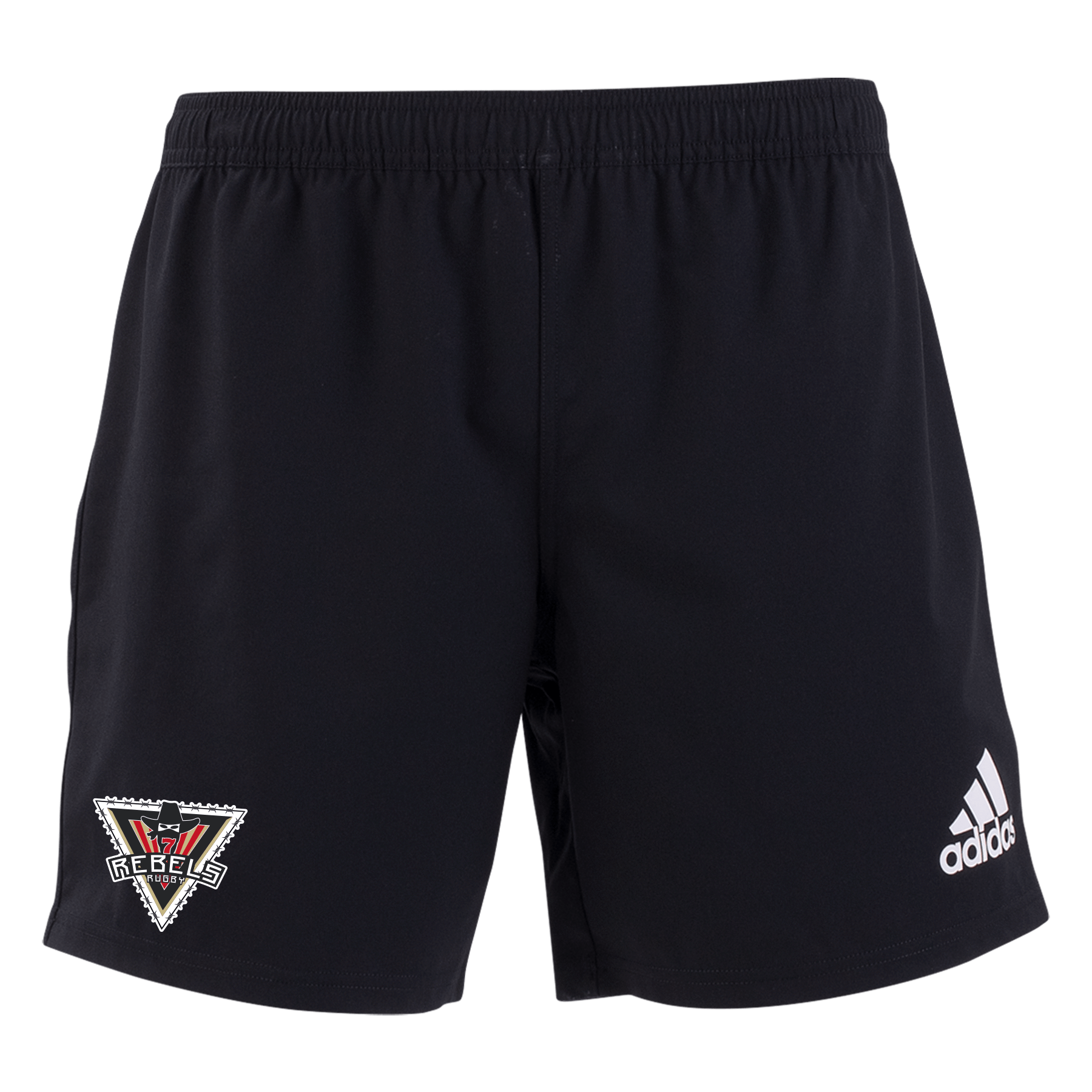 Rebel Rugby Academy adidas 19 Black/White 3 Stripe Shorts