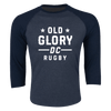 Old Glory DC Rugby 3/4 Sleeve Shirt Blue