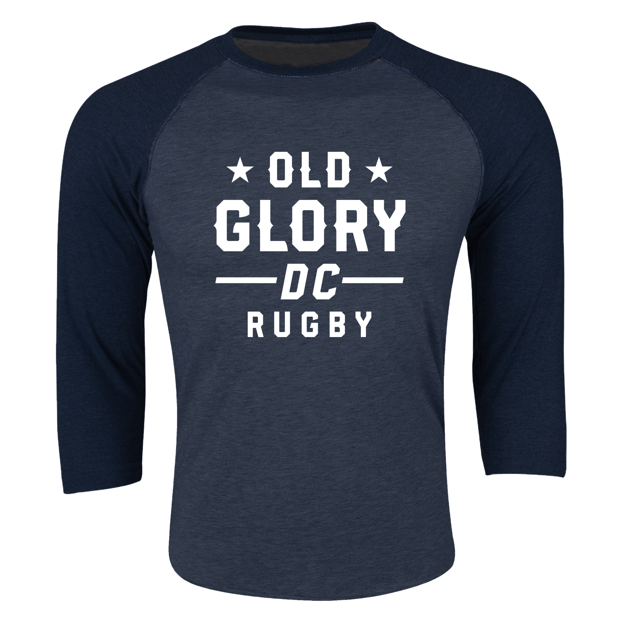 Old Glory DC Rugby 3/4 Sleeve Raglan Shirt