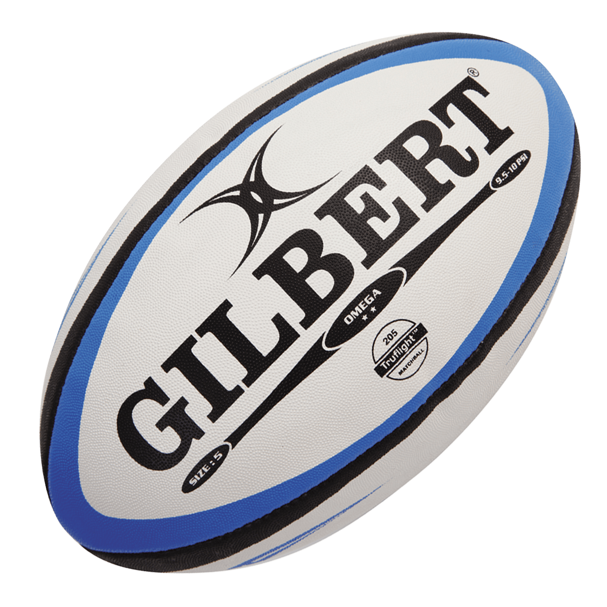 Gilbert Blue/Black Omega Match Rugby Ball