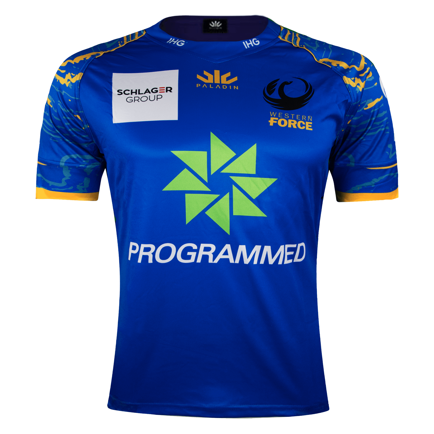 Paladin Western Force Home Rugby Jersey Front Blue