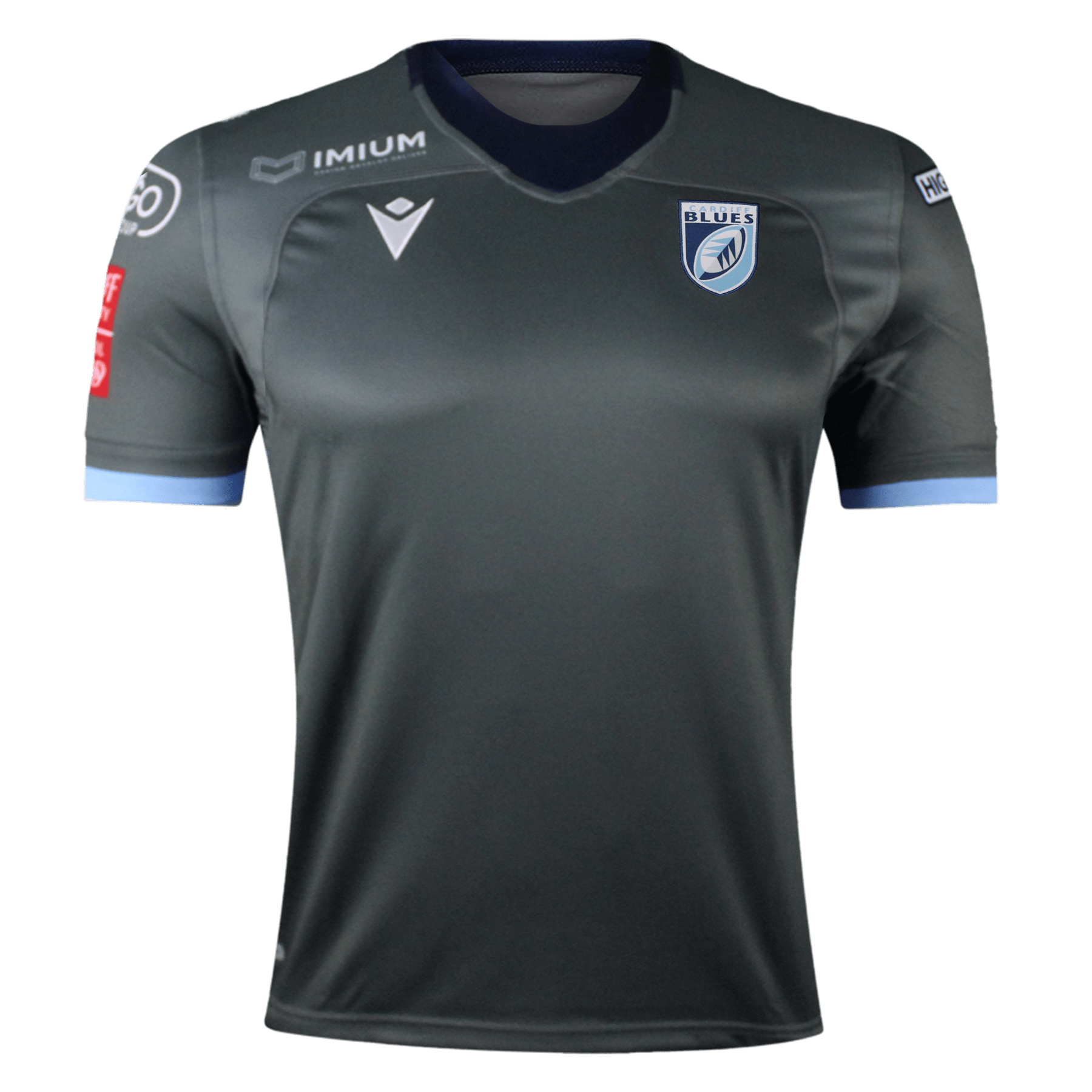 Macron Cardiff Blues 19 Away Rugby Jersey