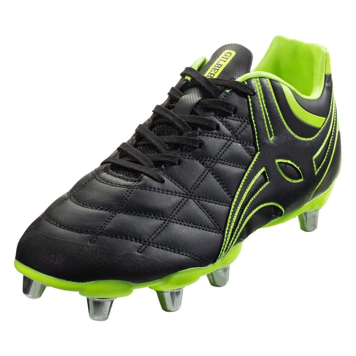 Gilbert Sidestep X9 8 Stud Soft Ground Rugby Boots Black
