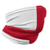 Red & White England Neck Gaiter View From Right