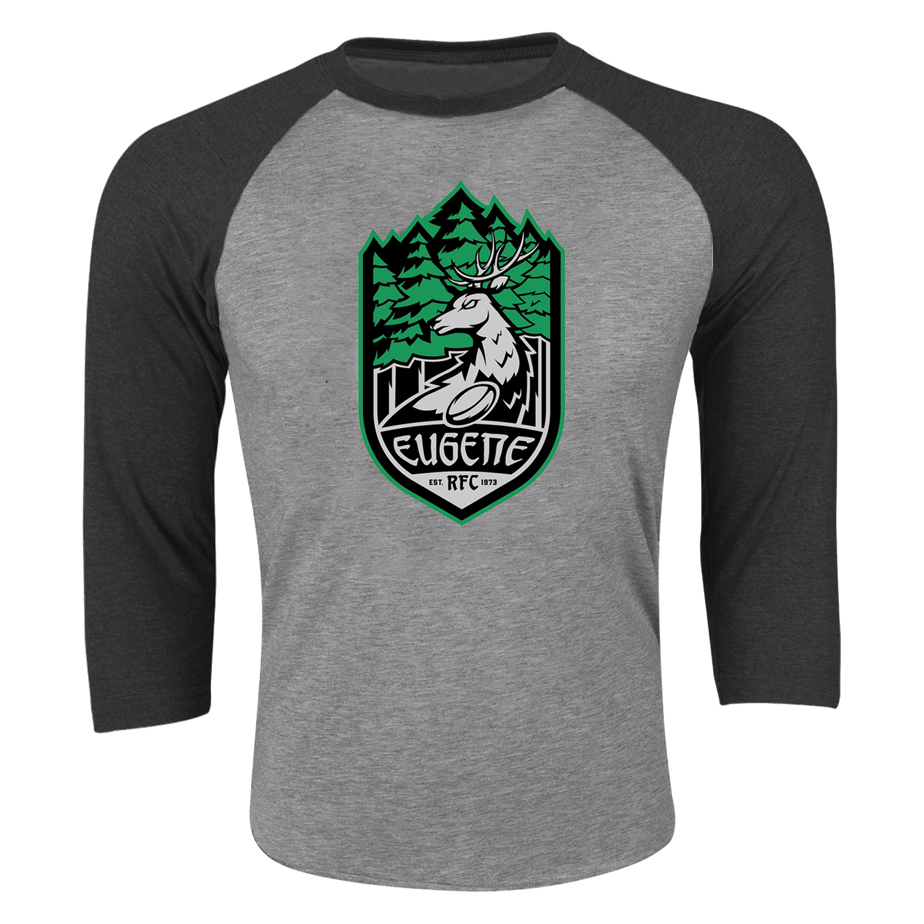 Eugene Stags Rugby 3/4 Sleeve Raglan Shirt