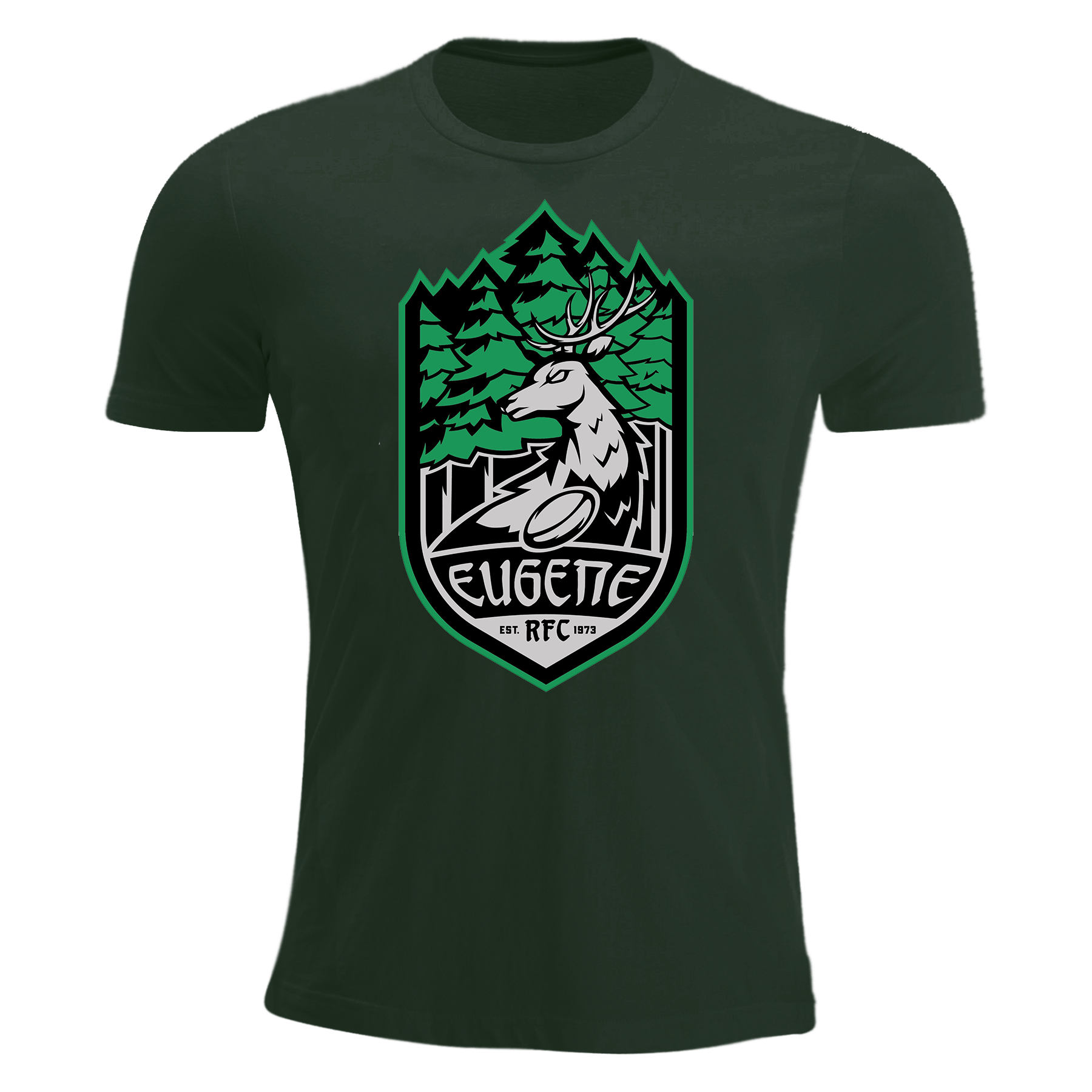 Eugene Stags Rugby Premership T-Shirt Green