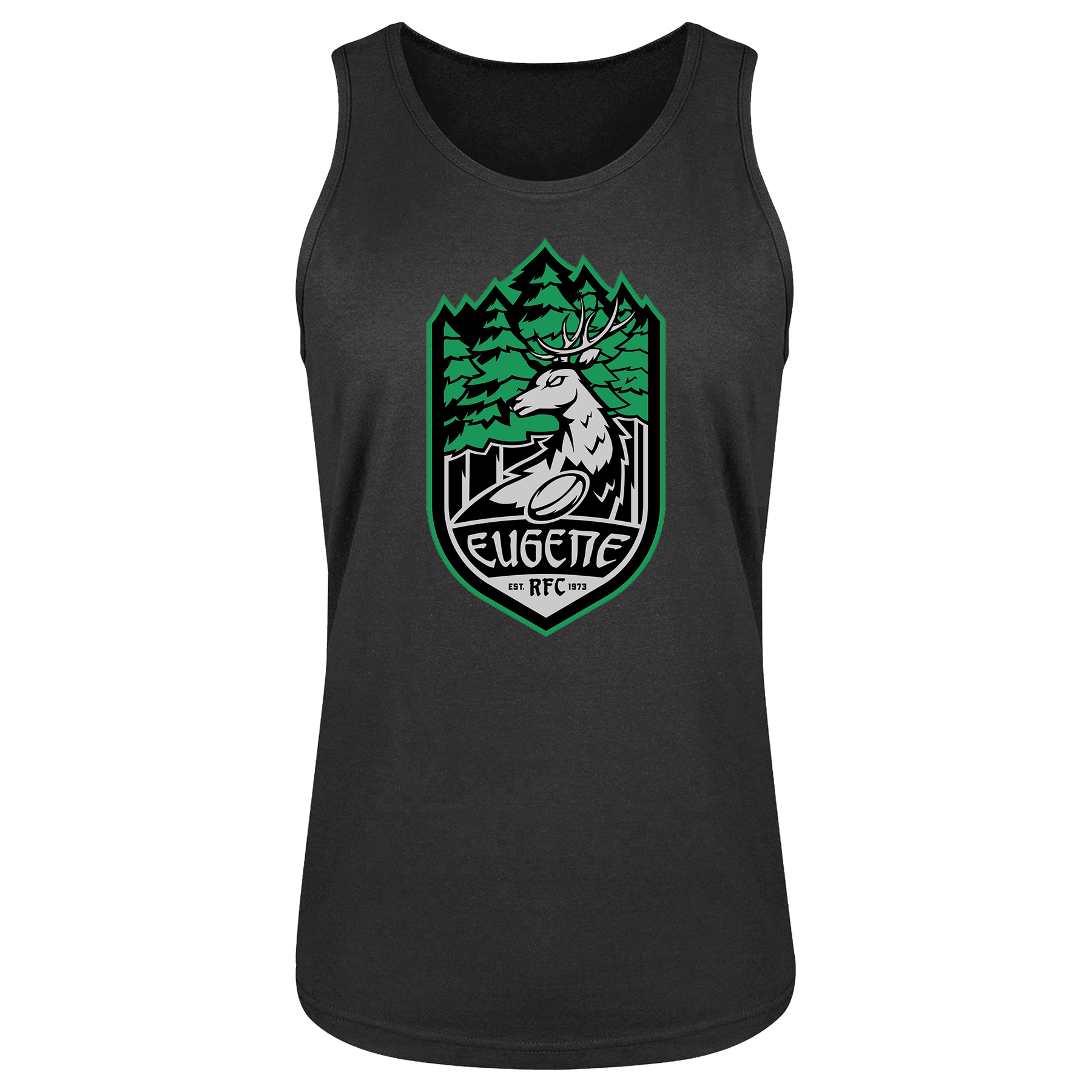 Eugene Stags Rugby Bingtang Singlet Grey