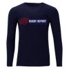 Goff Rugby Report Navy Off Field T-Shirt Long Sleeve Front
