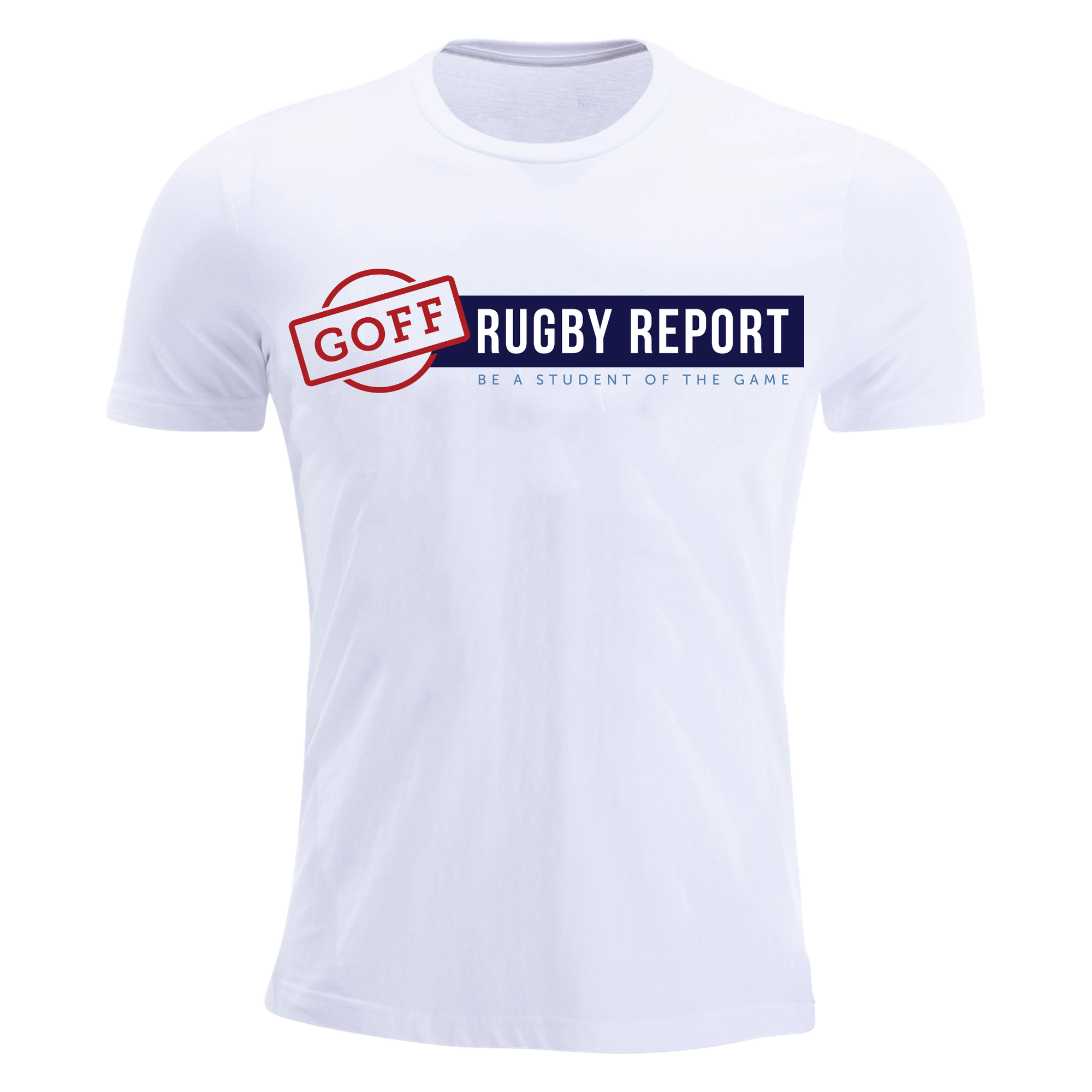 Goff Rugby Report White Premiership T-Shirt