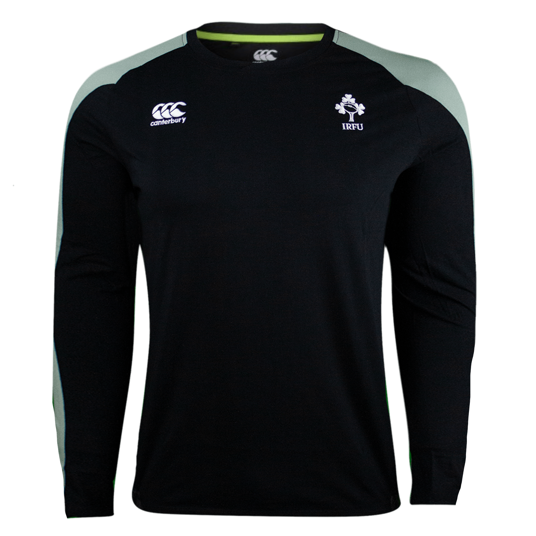 Canterbury Ireland Rugby L/S Black Cotton T-shirt