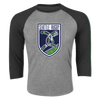 Seattle Rugby Club 3/4 Sleeve Raglan Grey
