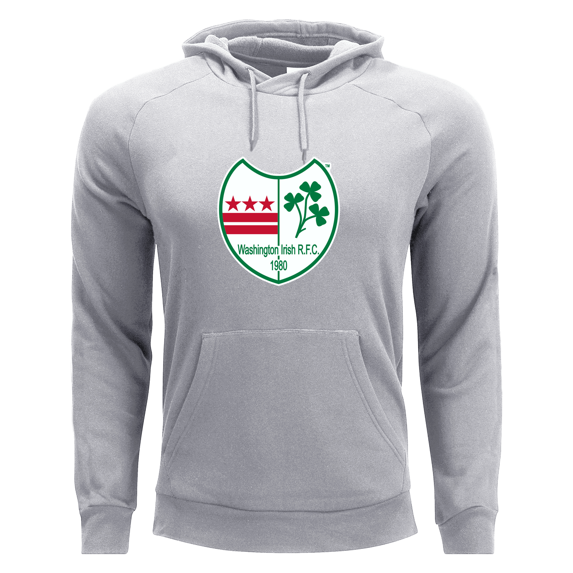 Washington Irish Rugby Unisex Hoodie Grey
