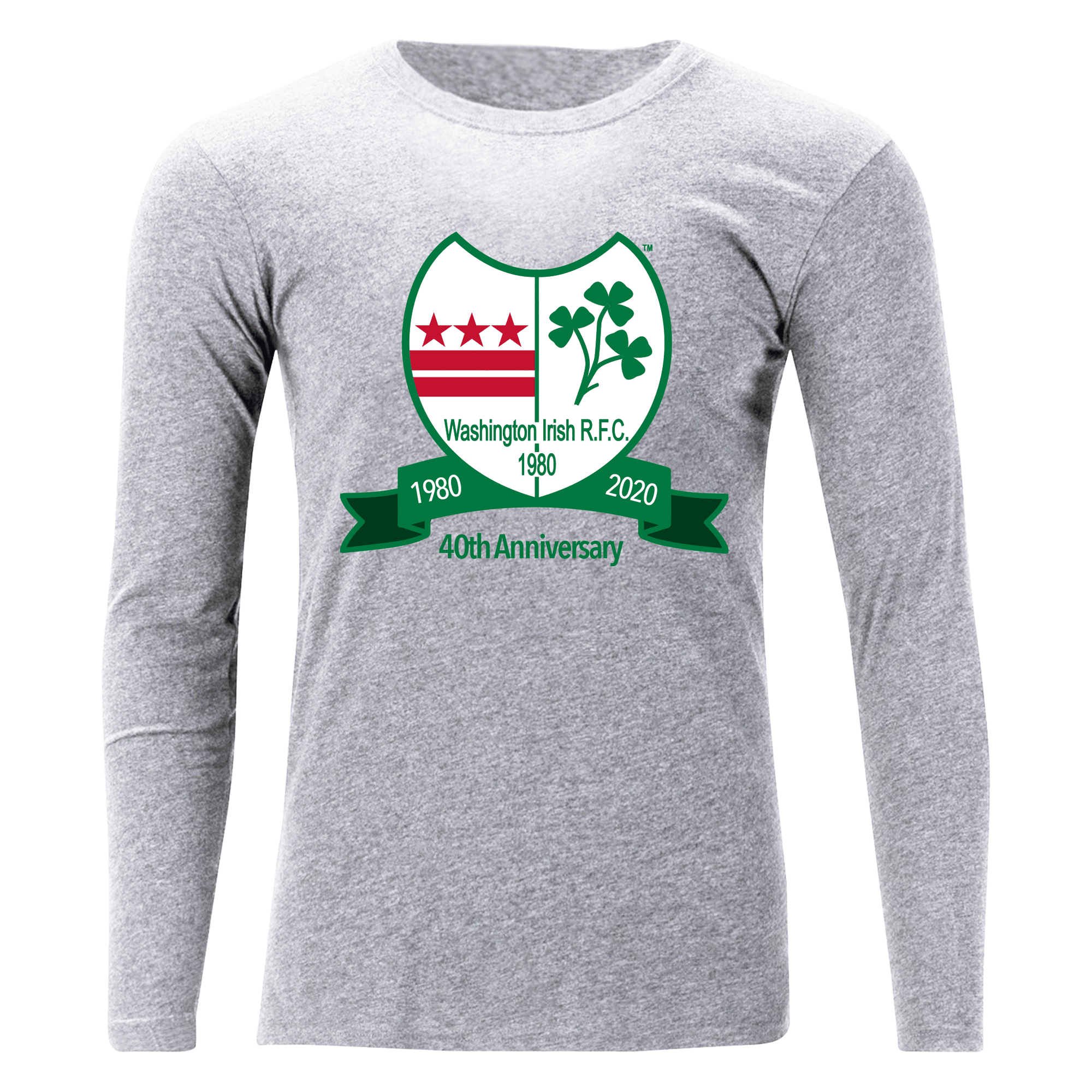 Washington Irish Rugby 40th Anniversary Grey Off Field T-Shirt LS