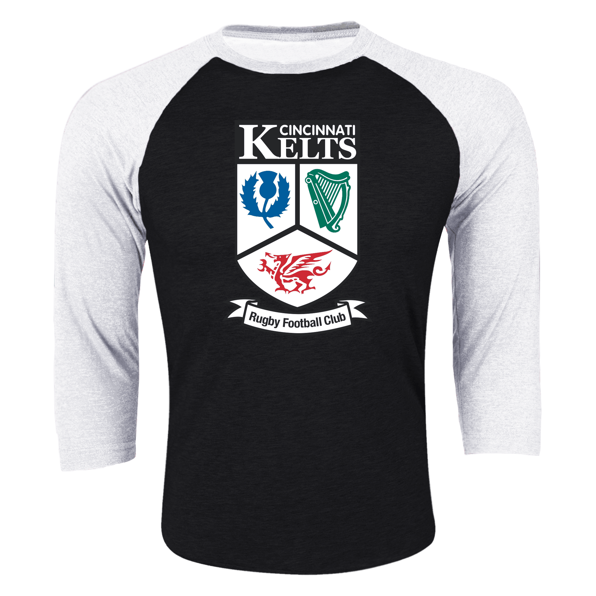 Cincinnati Kelts RFC 3/4 Sleeve Raglan Shirt