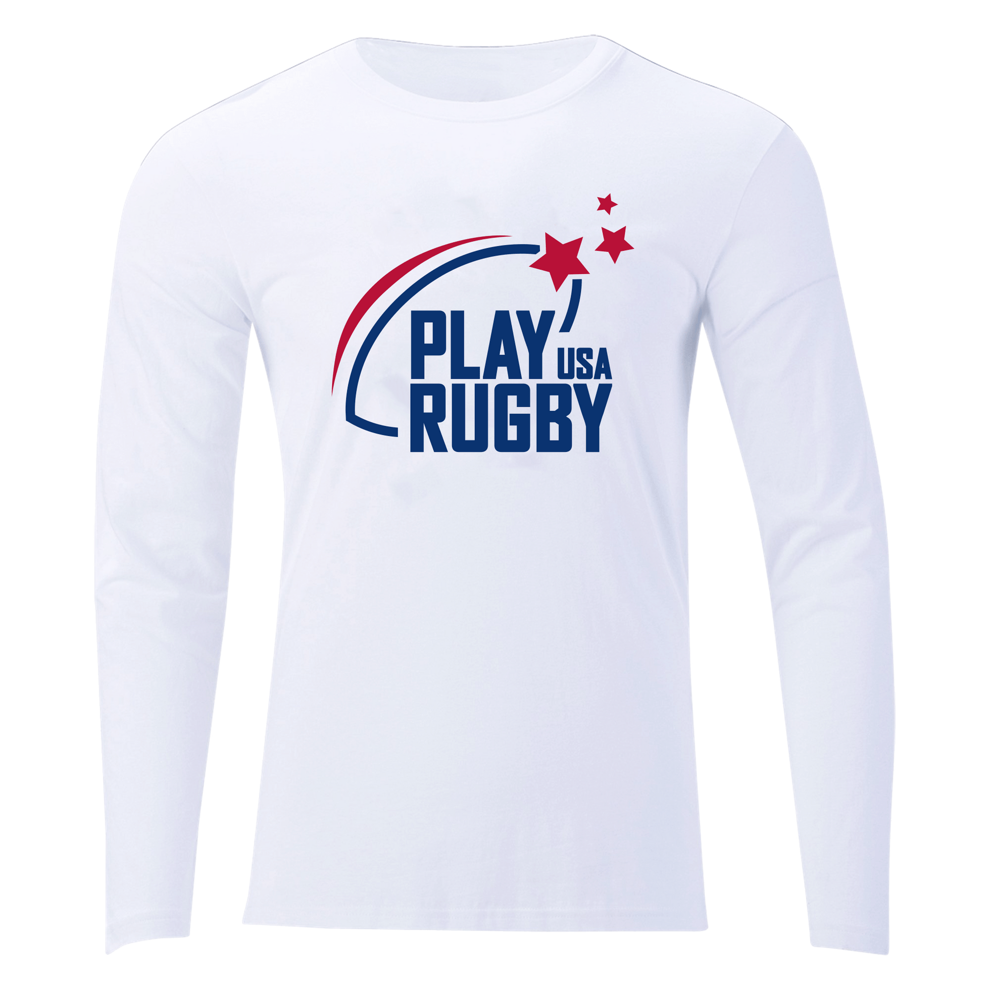 Play Rugby USA Off Field T-Shirt LS White