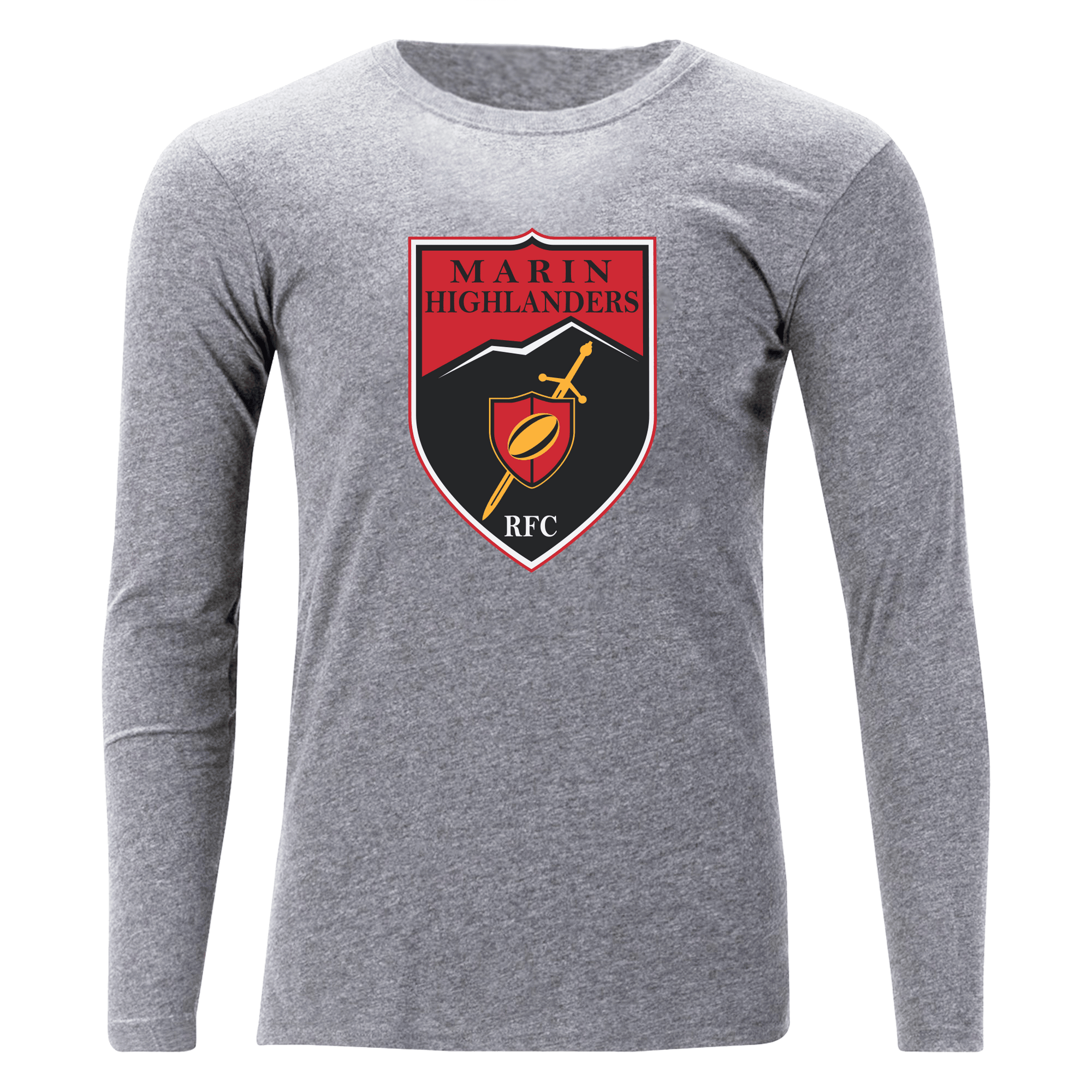 Marin Highlanders Rugby Unisex Long Sleeve Tee Grey