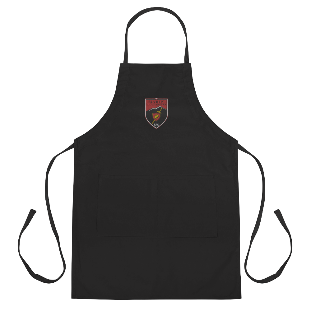 Marin Highlanders Rugby Embroidered Apron