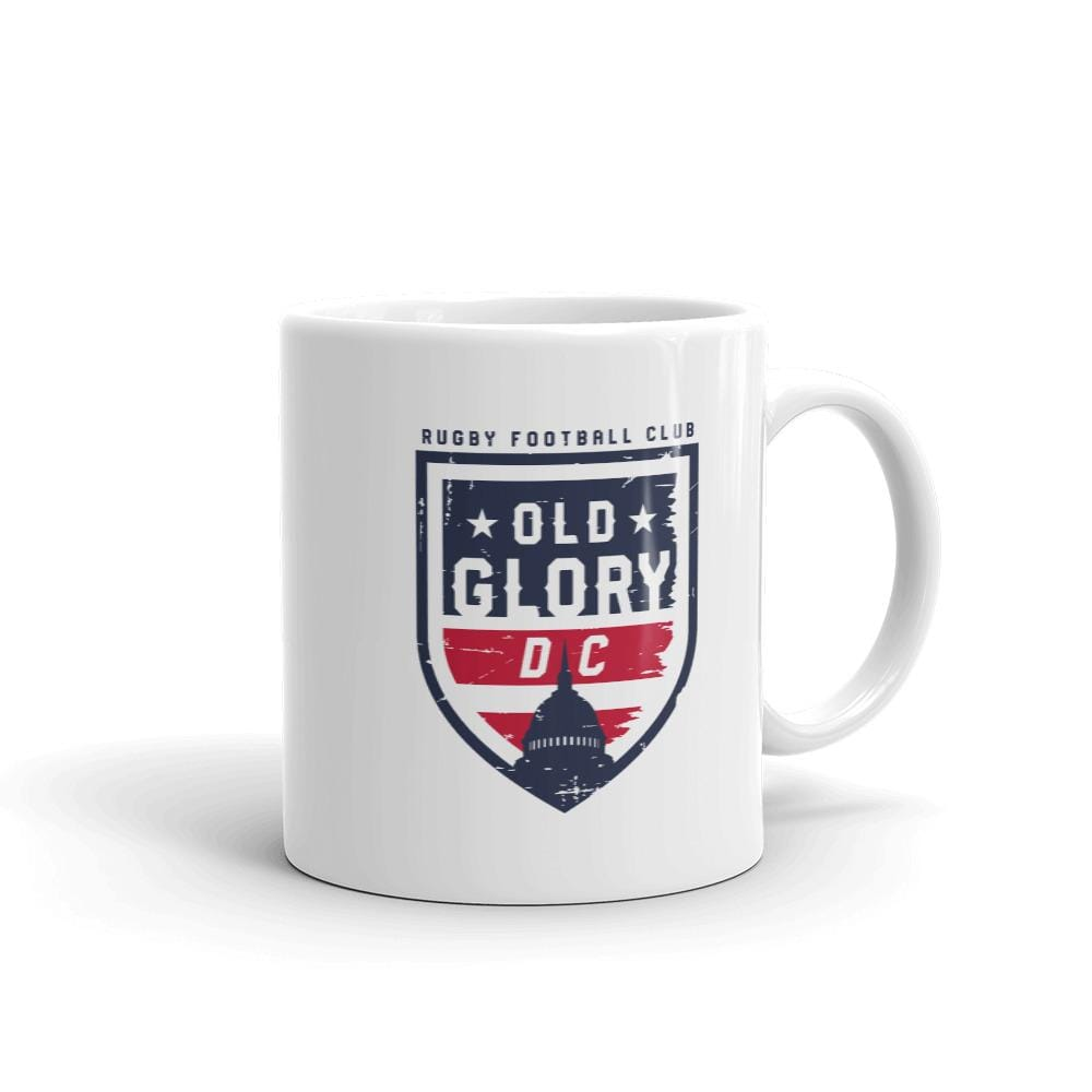 Old Glory DC Rugby Logo on Both Sides of White Ceramic Mug