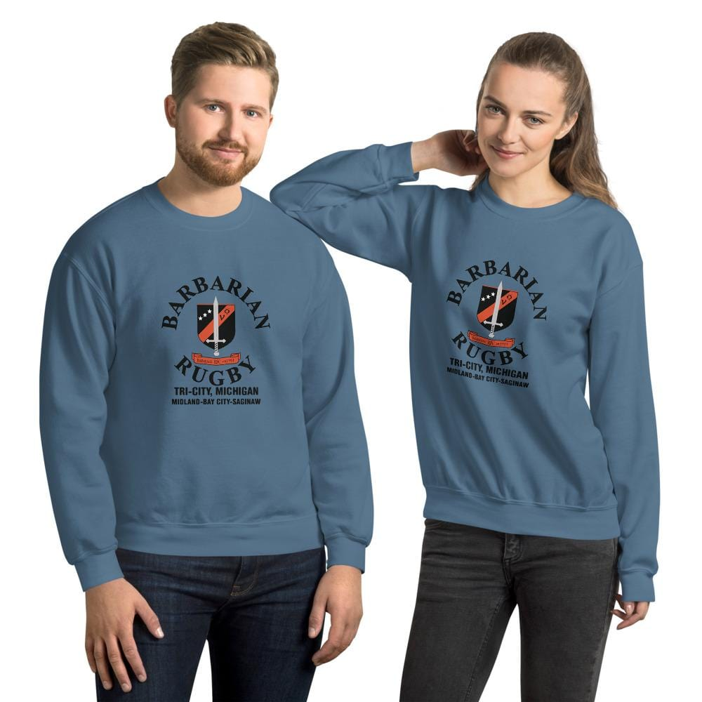 Tri City Barbarians Unisex Sweatshirt Indigo Blue
