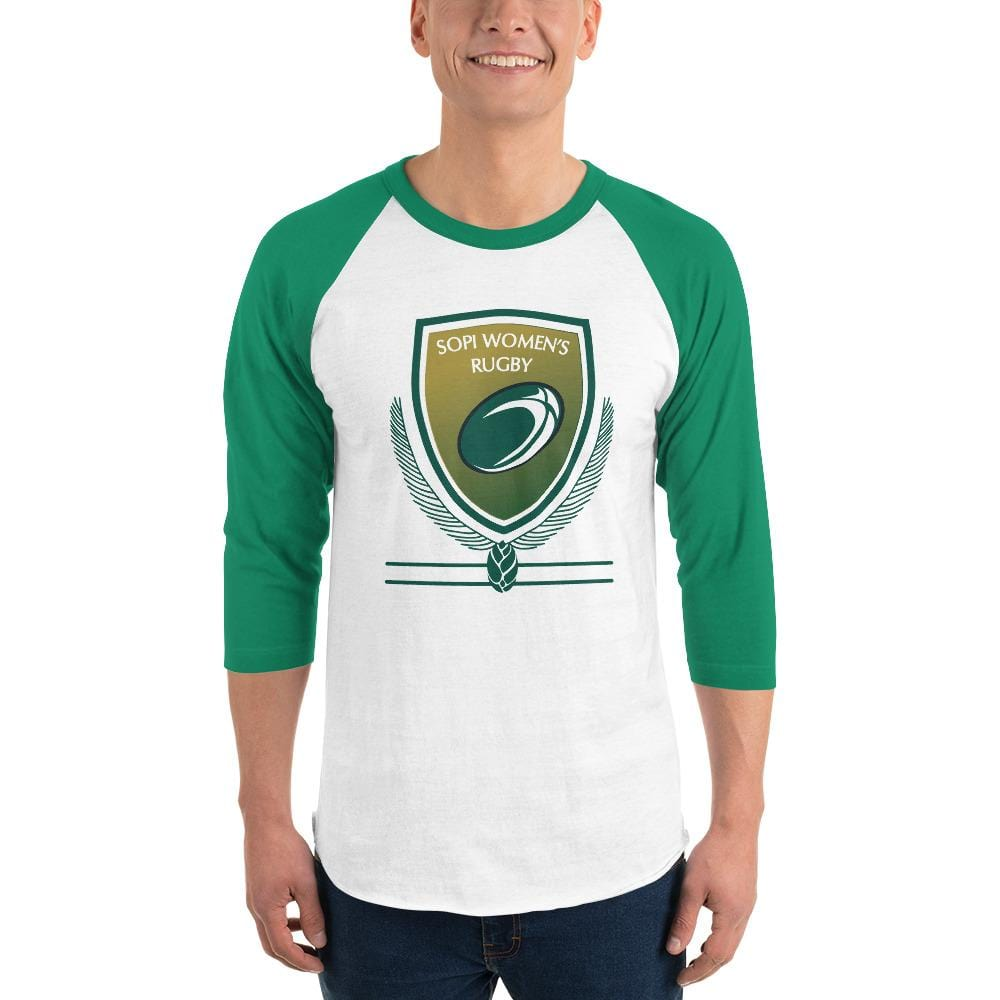 SOUTHERN PINES RFC 3/4 sleeve raglan shirt Green & White