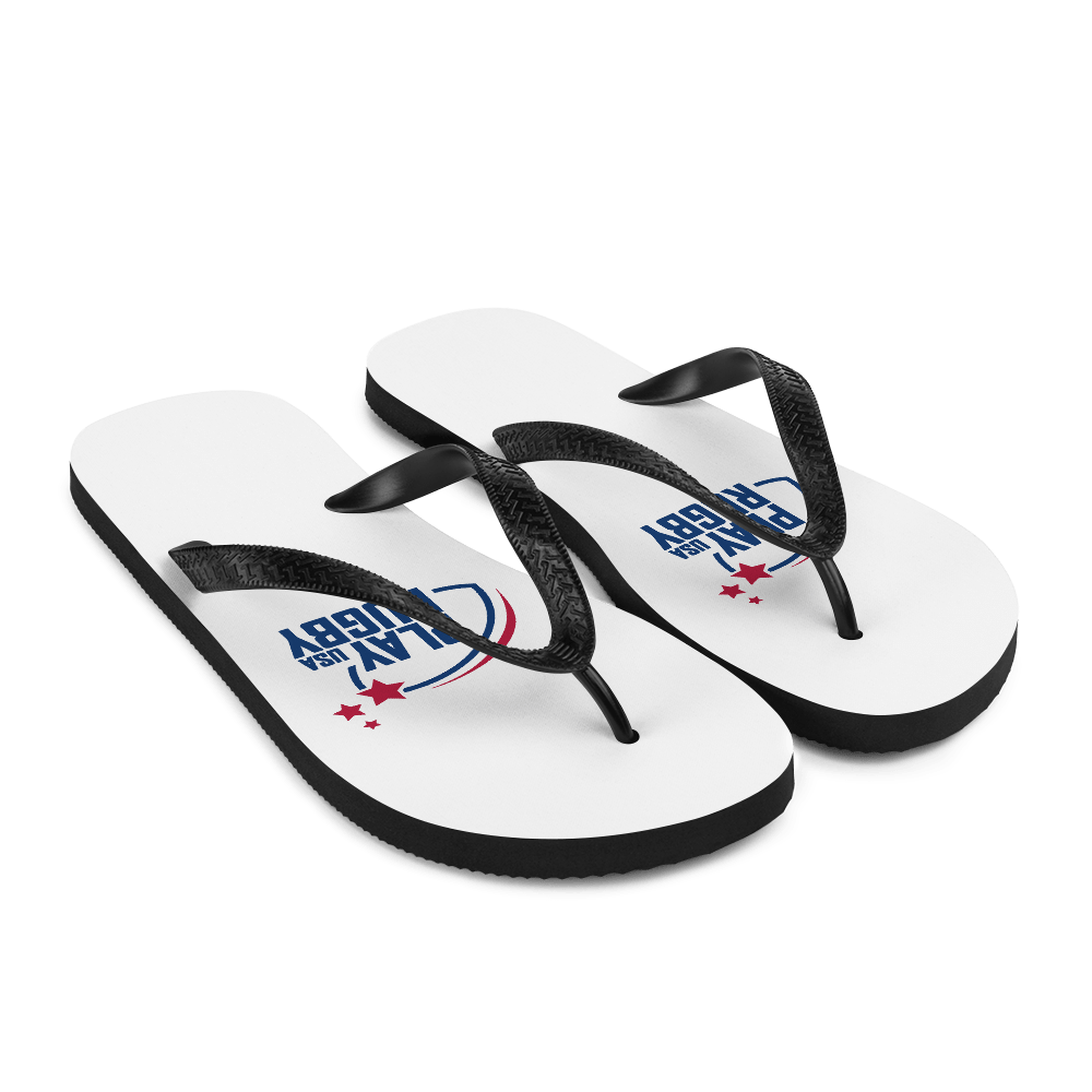 Play Rugby USA Flip-Flops