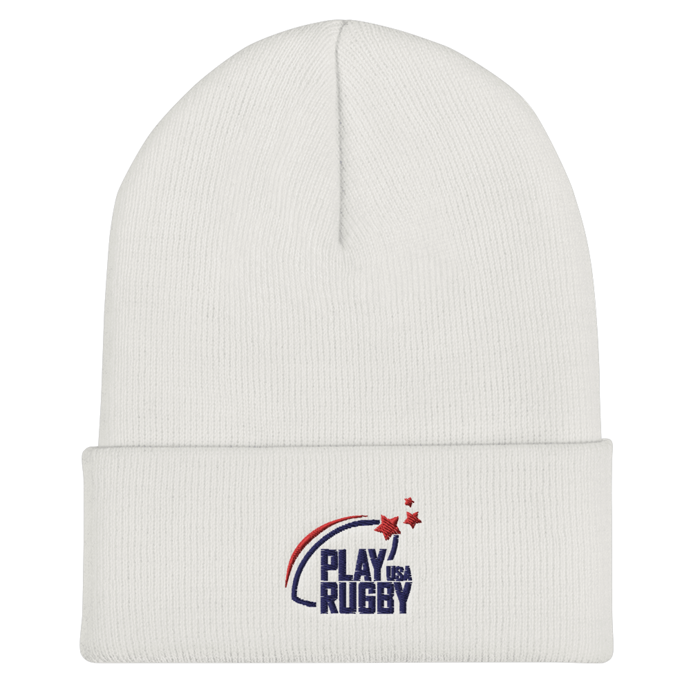 Play Rugby USA On Field Training Beanie White