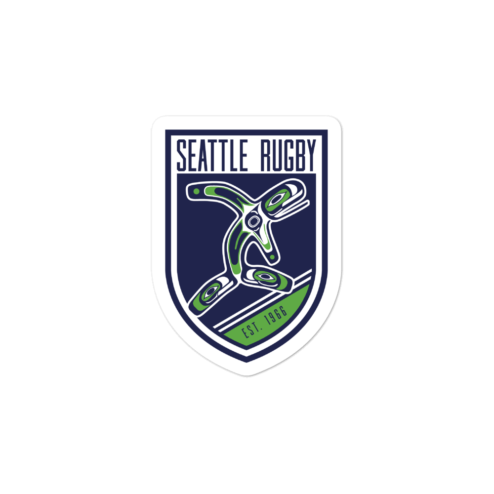 Seattle Rugby Club Bubble-free Stickers